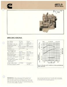 Cummins 4BT 3.9 Engine Specifications