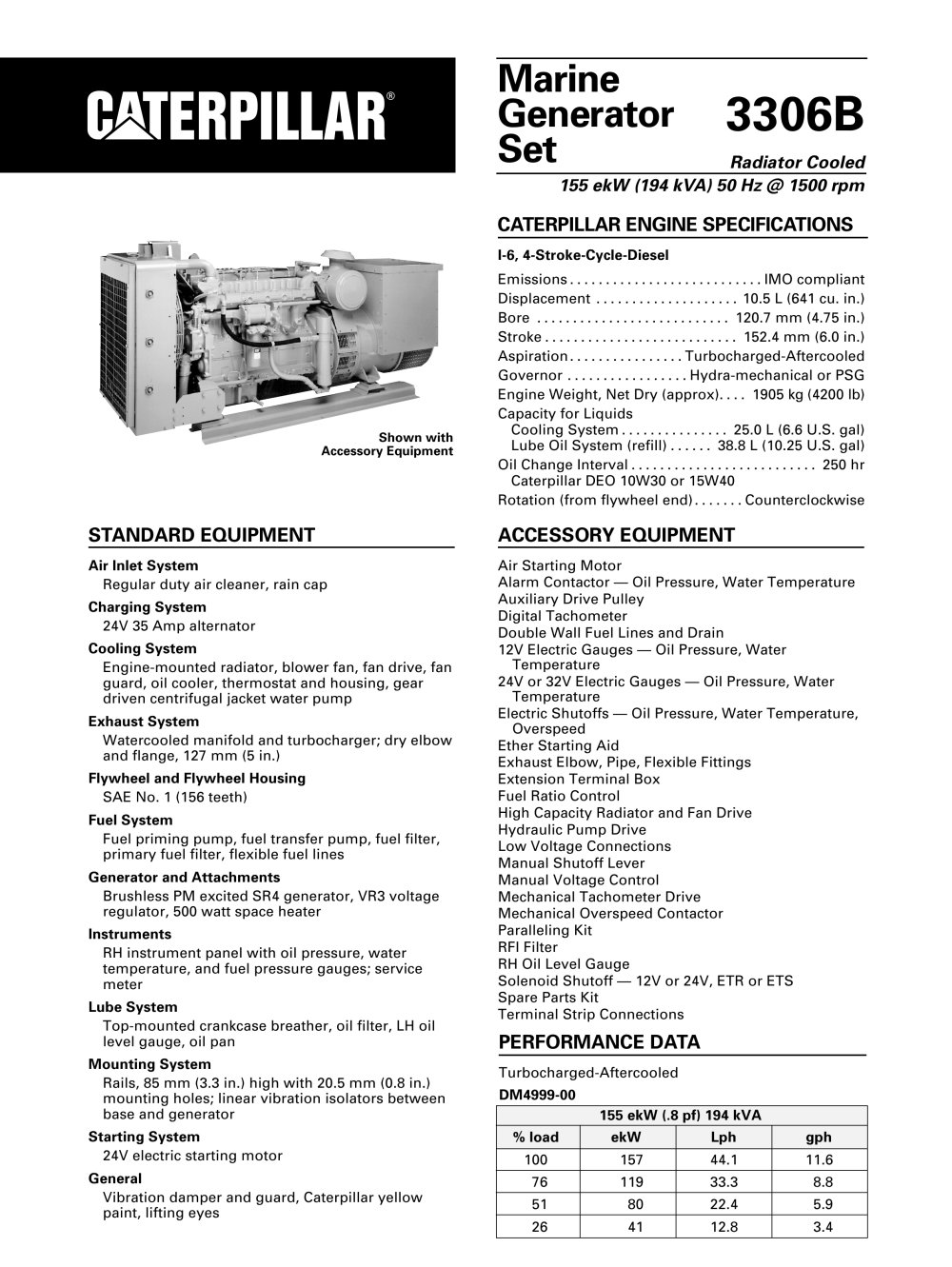 Cat engine model 3306 Manual